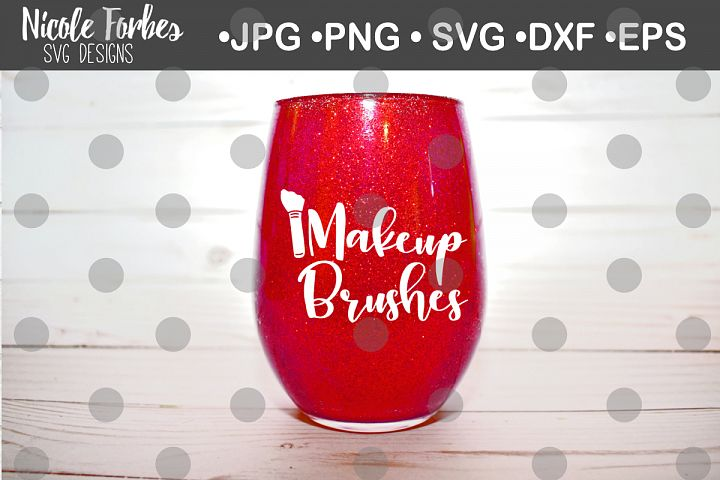 Makeup Brushes SVG Cut File