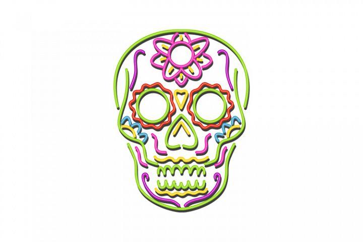 Sugar Skull Neon Sign
