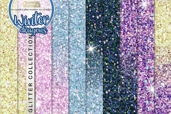 Winter seamless Glitter backgrounds
