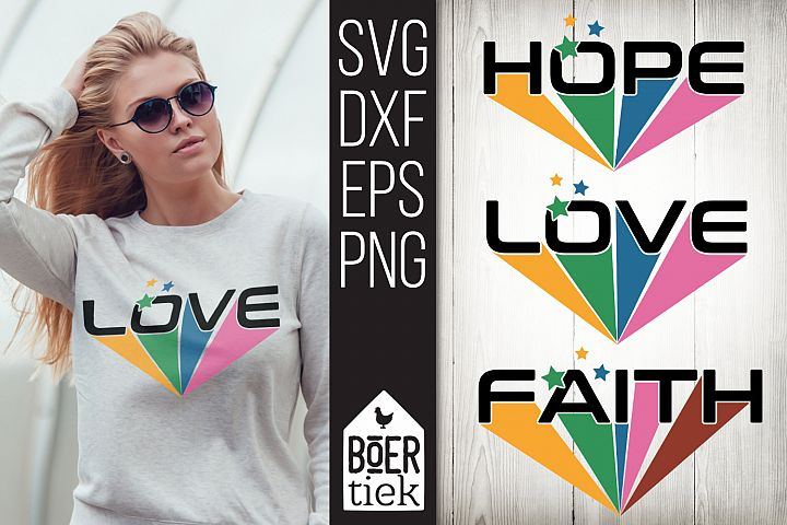 Love Hope Faith, cutting file