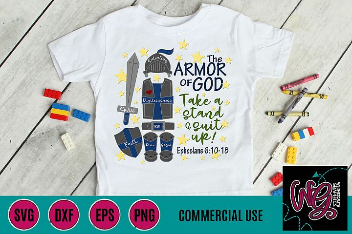 Armor of God Suit Up SVG, DXF, PNG, EPS, JPEG Comm