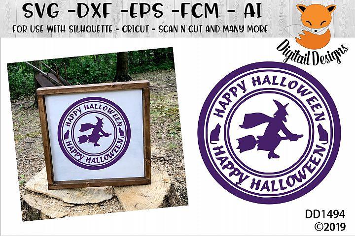 Halloween Stamp Sign SVG