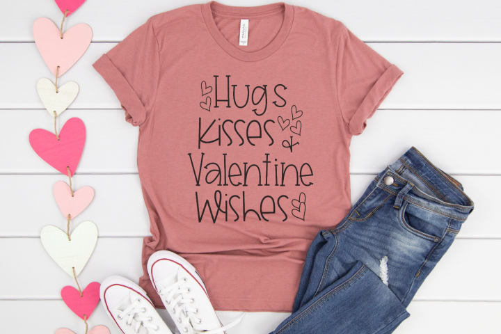 Valentines Day - Hugs Kisses And Valentine Wishes SVG