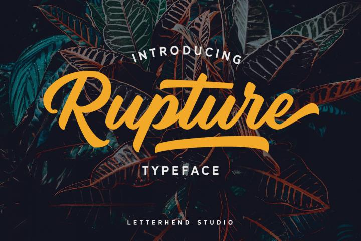 Rupture Typeface - Font Duo