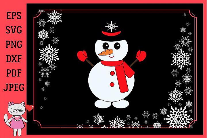 Christmas Snow Man svg
