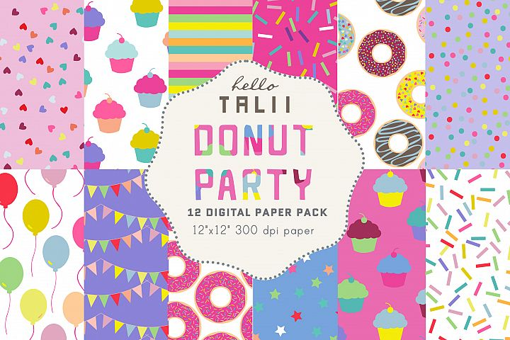 Donuts Digital Paper