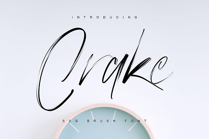 Crake - Brush SVG Font