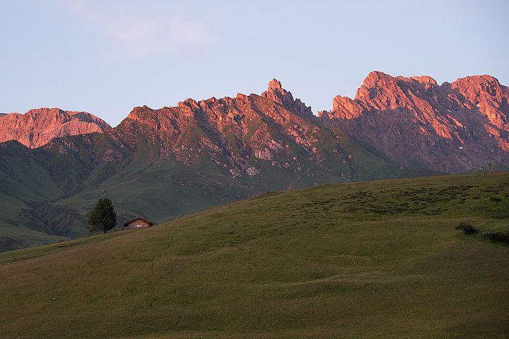 Dolomites Seiser Siusi sunset