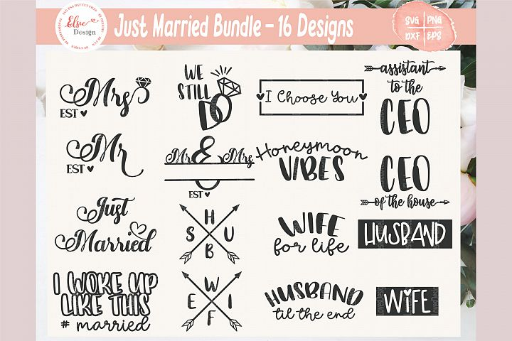Just Married Bundle SVG Cut Files