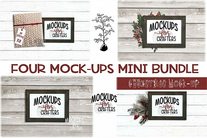 REVERSE CANVAS Mini Mock-Up Bundle, Christmas Theme