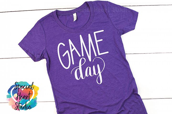 Game Day - A Hand Lettered SVG Cut File for sports