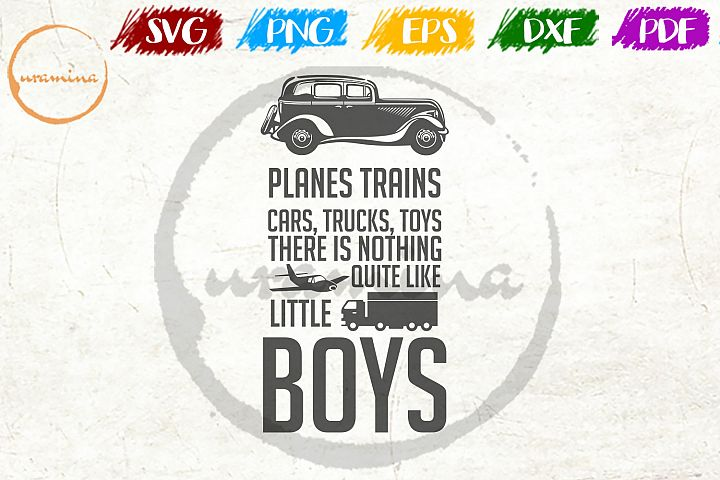 Planes Trains Cars Trucks Toys Kids Room SVG PDF PNG