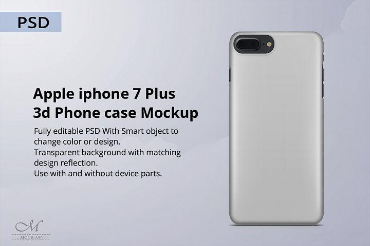 Apple iPhone 7 Plus 3d Phone Case Mockup