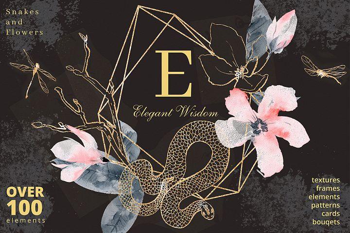 Elegant Wisdom graphic collection.