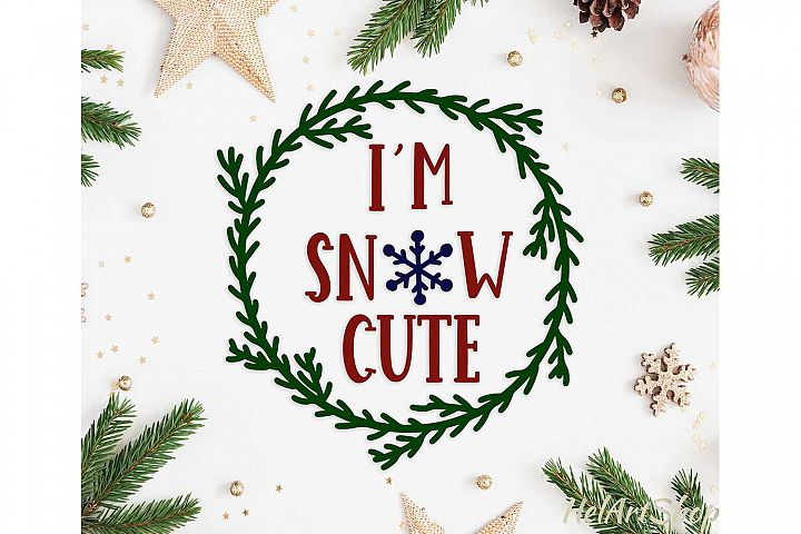 Im snow Cute baby onesie design svg cutting file