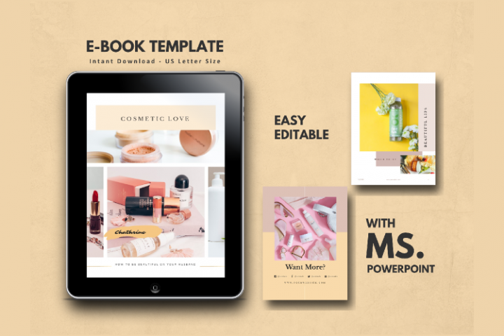 Cosmetic Makeup eBook Template PowerPoint Presentation