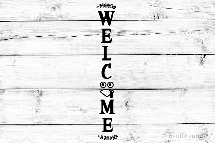 Welcome Porch Sign SVG, DXF, PNG, EPS Files for Cutting