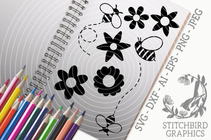 Bumblebee Bundle SVG, Silhouette Studio, Cricut, Eps, Jpeg