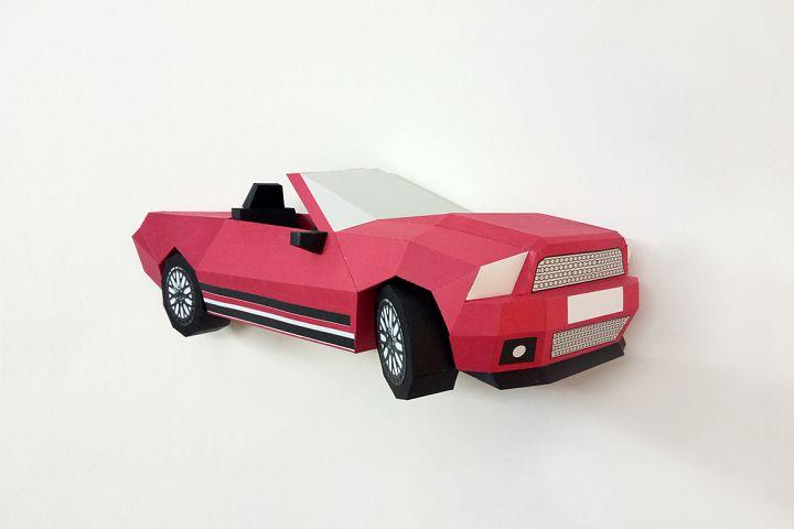 DIY Wall mount Car - 3d papercraft