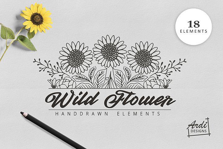 Hand Drawn Wild Flower