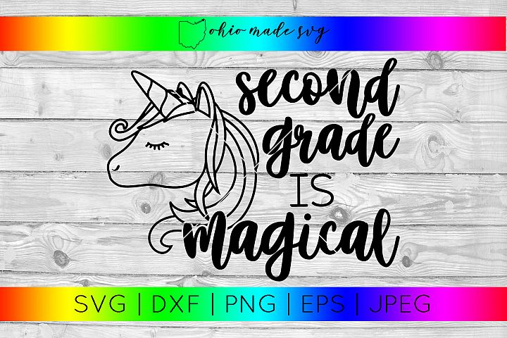 Second Grade Is Magical SVG