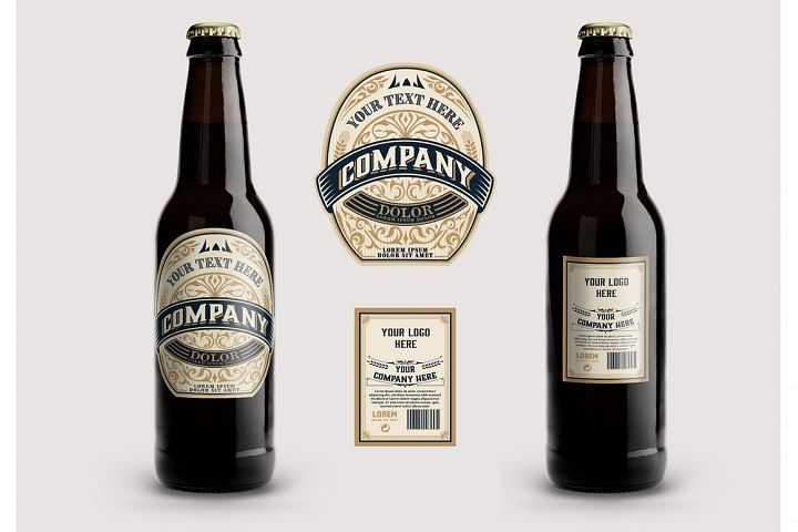 liquor/beer vintage label. Vector layered