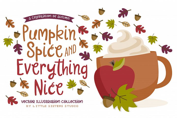 Pumpkin Spice - Autumn Illustrations
