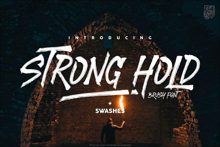 STRONGHOLD Brush font