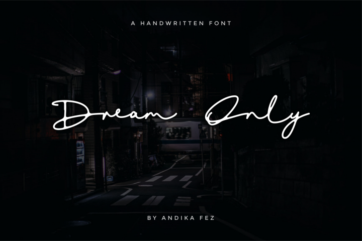 Dream Only | Handwritten Font