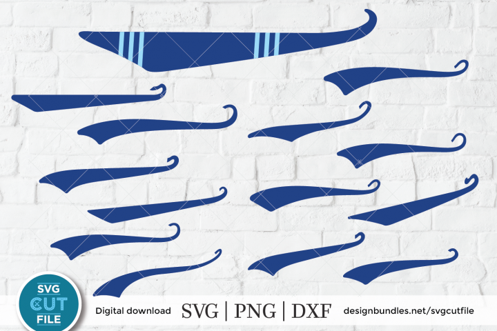 Baseball Swoosh SVG, Swish SVG, Text Tail SVG, Swash SVG