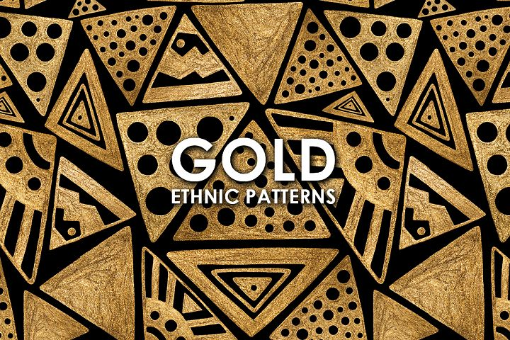 GOLD ETHNIC patterns