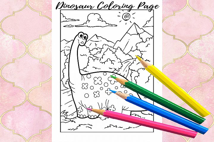 Coloring Pages For Kids - 15 Dinosaurs Pages