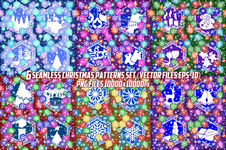 Seamless pattern on christmas theme.