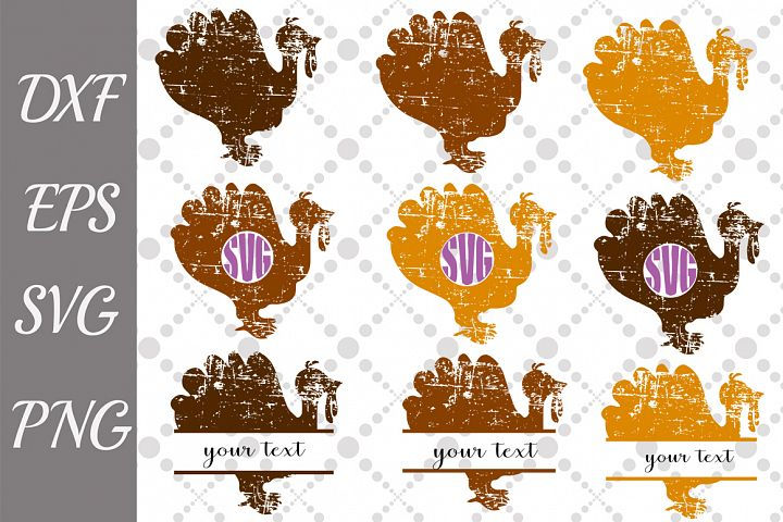 Turkey Svg,GRUNGE TURKEY SVG,Bundle Svg,Turkey Monogram Svg