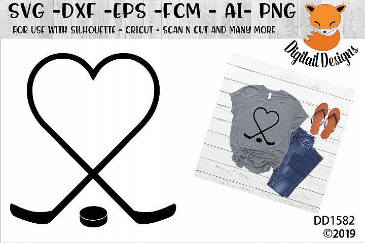 Hockey Heart SVG