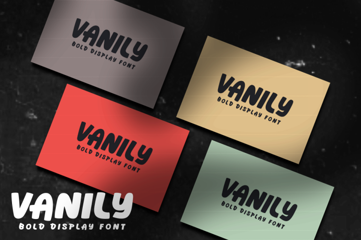 Vanily Display Font