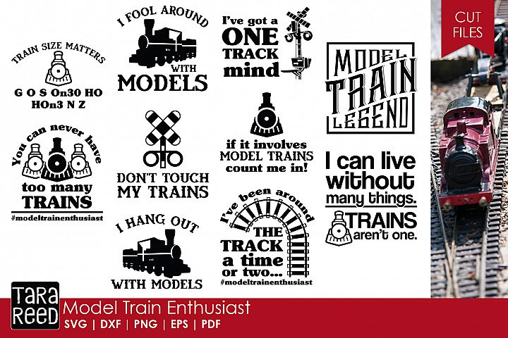 Model Train SVG and Cut Files for Crafters