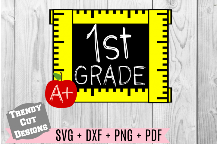 First Grade Ruler Frame, Back to School