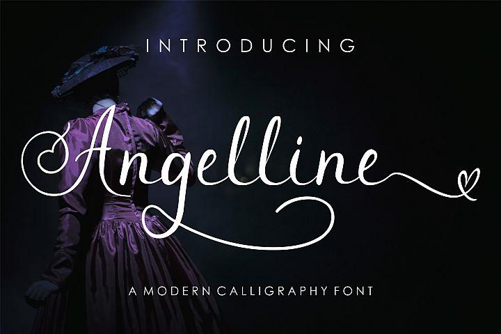 Angelline Modern Calligraphy Font