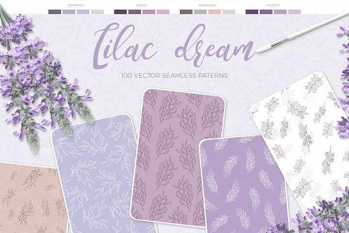 Lilac Dream + BONUS 6 Instagram Templates