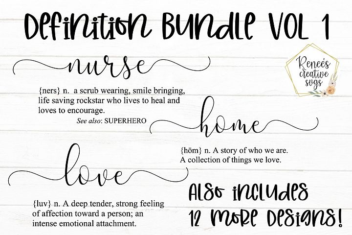 Definition Bundle VOL 1| Quotes | SVG Cutting File