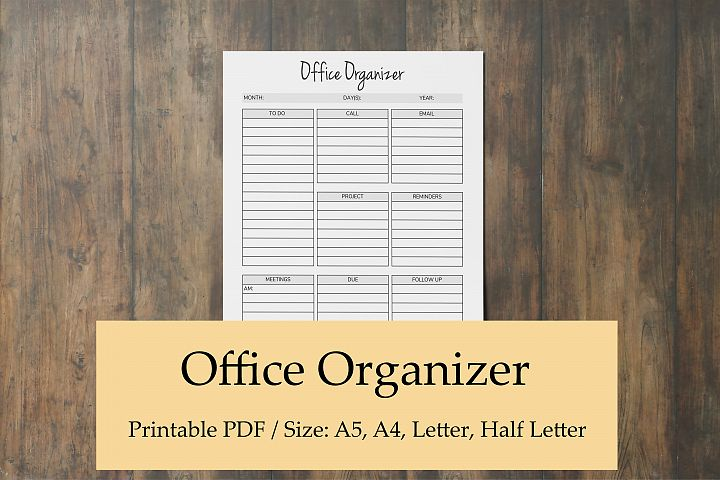 Office Organizer, Printable Planner Pages, Planner Organizer