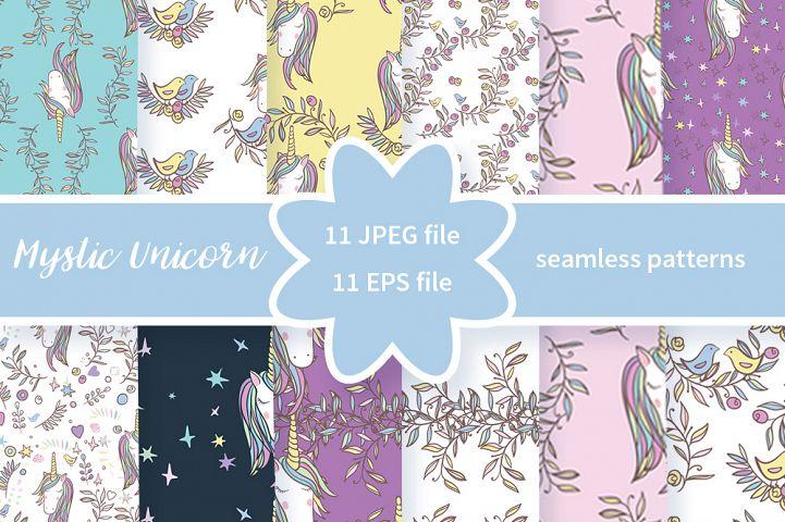 Unicorn Rainbow pattern
