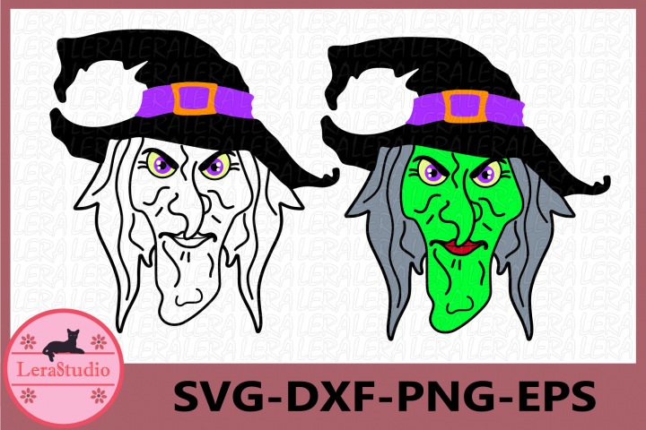 Witch Face Svg, Witch SVG, Halloween Svg, Halloween Witch