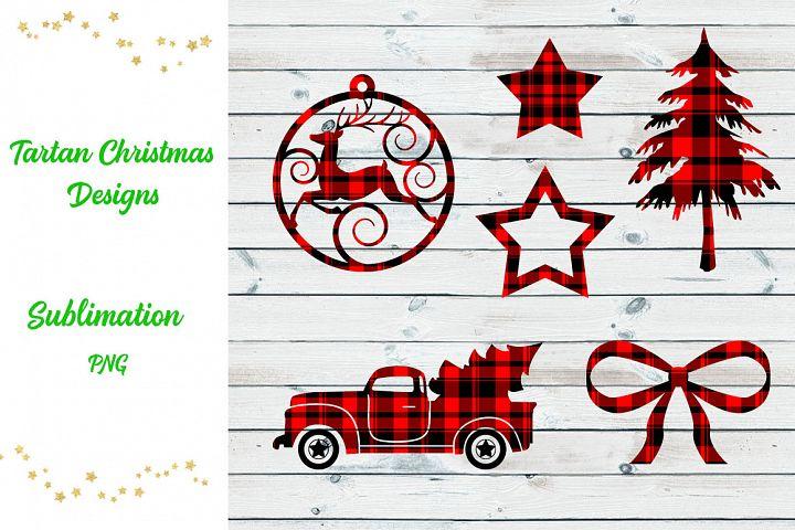 Tartan Sublimation Christmas Designs