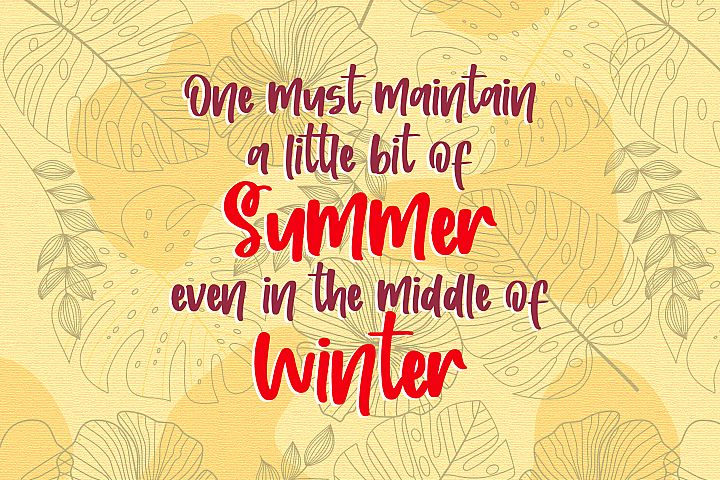 Sunshine Wishes - Handwritten Font example image 2