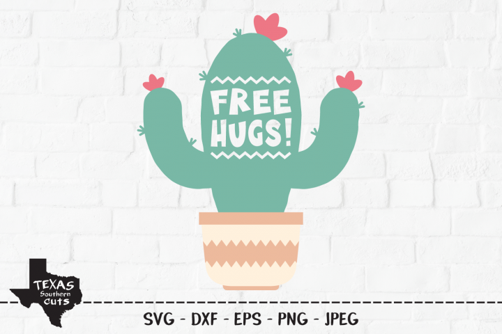 Free Hugs! SVG, Cut File, Funny Cactus Shirt Design