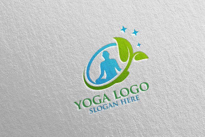 Yoga and Spa Lotus Flower logo 5