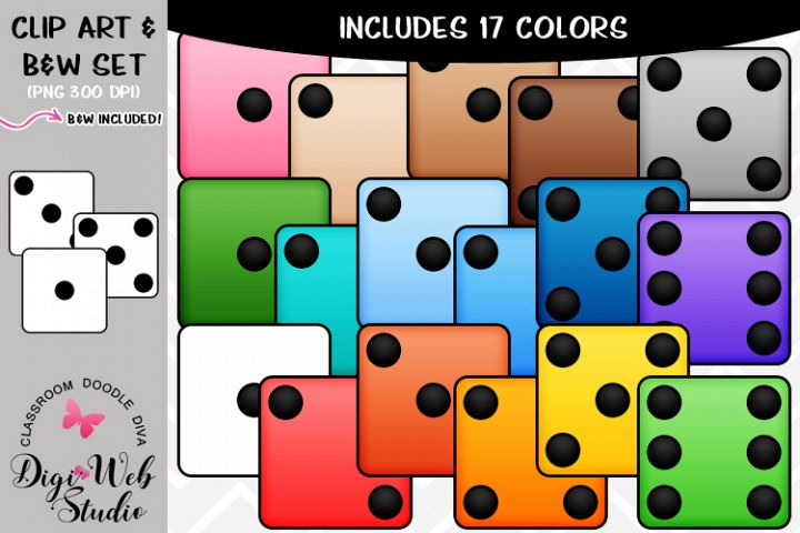 Clip Art / Illustrations - Colorful Dice