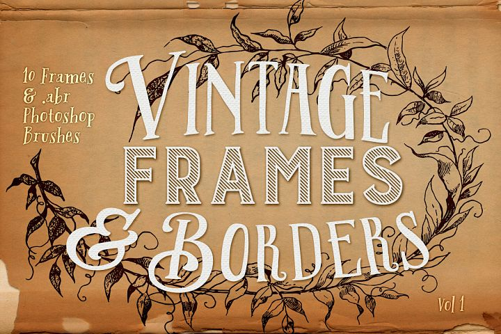 Vintage Frames and Borders plus Photoshop Brushes